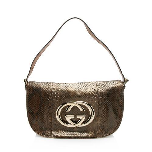 Gucci Python Britt Shoulder Bag