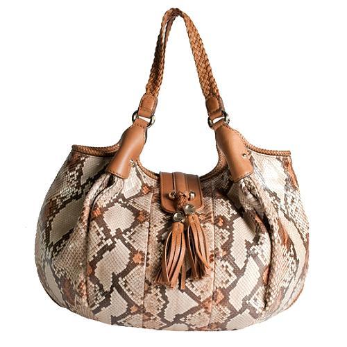 Gucci Python Marrakesh Medium Sholder Handbag