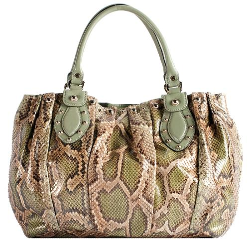 a3dde19ef88f2f Gucci Python 'Pelham' Satchel Handbag