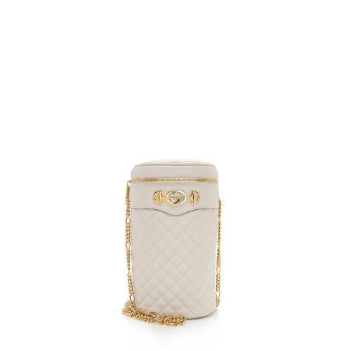 Gucci Quilted Leather Zumi Cylindrical Shoulder Bag