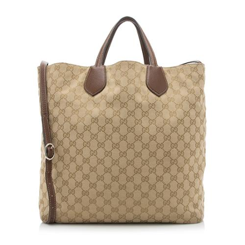 Gucci Ramble Reversible GG Original Canvas Tote