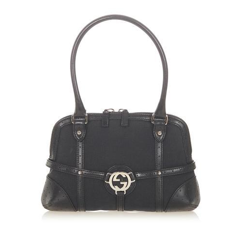 Gucci Reins Canvas Handbag