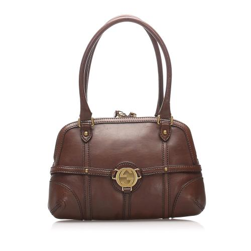 Gucci Reins Leather Shoulder Bag