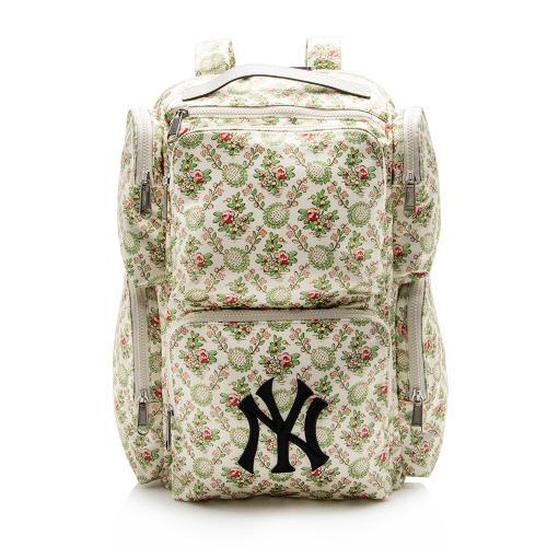 Gucci Satin Floral Print NY Yankees Backpack