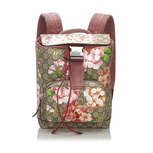 Gucci GG Supreme Small GG Blooms Backpack