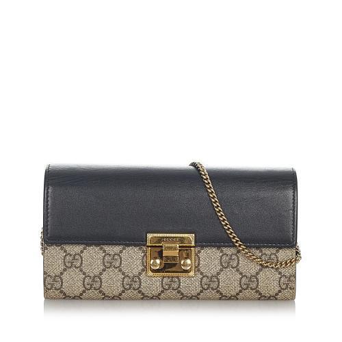 Gucci Small GG Supreme Padlock Crossbody Bag