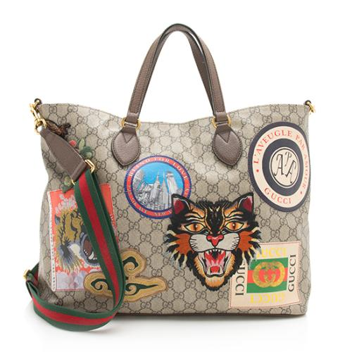 Gucci Soft GG Supreme Courrier Tote