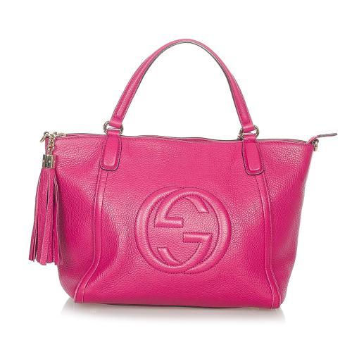 Gucci Soho Cellarius Leather Satchel