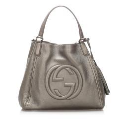 Gucci Metallic Leather Soho Tote
