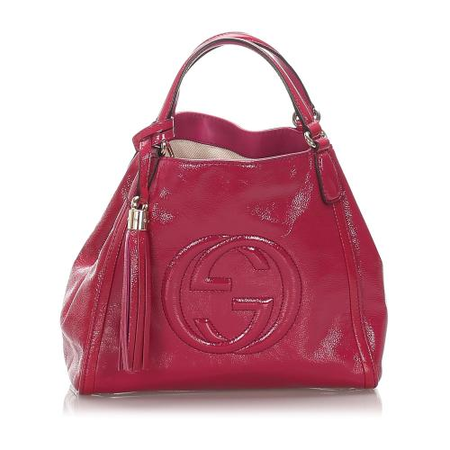 Gucci Patent Leather Soho Tote