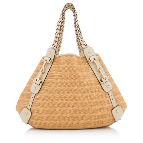 Gucci Straw Pelham Shoulder Bag