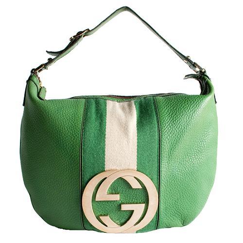 Gucci Striped Blondie Hobo Handbag