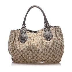Gucci GG Canvas Studded Pelham Shoulder Bag