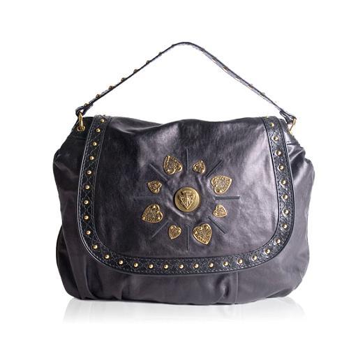 Gucci Studded Leather Irina Shoulder Handbag