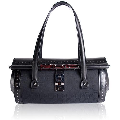 Gucci Studded Satchel Handbag