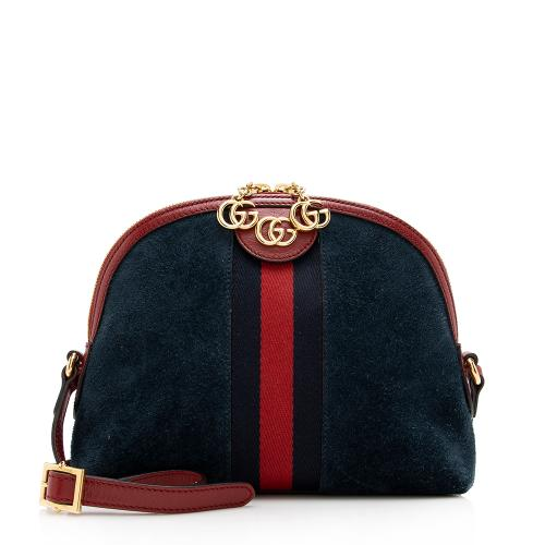 Gucci Suede Ophidia Dome Small Shoulder Bag