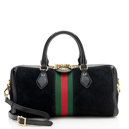 Gucci Suede Ophidia Medium Boston Satchel