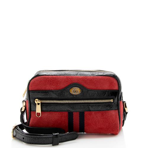 Gucci Suede Ophidia Mini Crossbody Bag