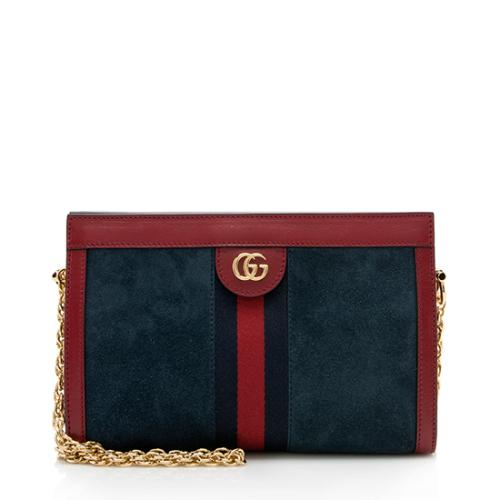 Gucci Suede Ophidia Small Shoulder Bag