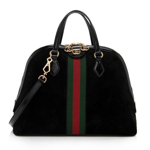 Gucci Suede Ophidia Top Handle Medium Satchel