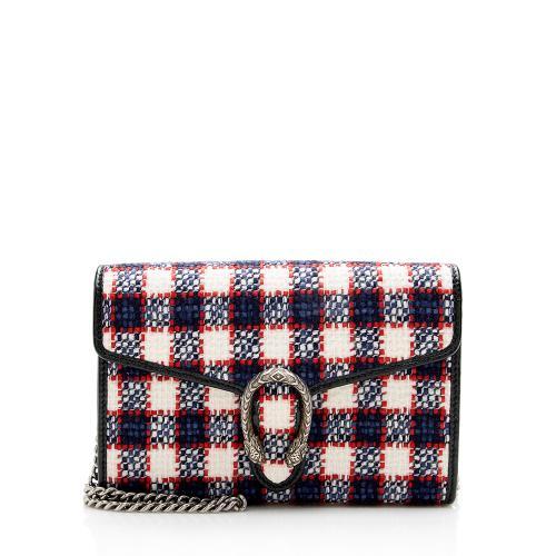 Gucci Tweed Dionysus Chain Wallet