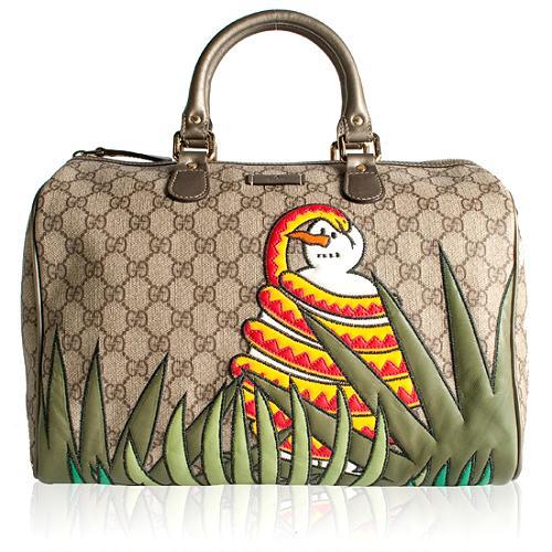 Gucci UNICEF Benefit Snowman in Africa Joy Boston Satchel Handbag