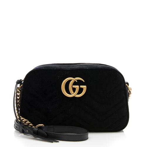 Gucci Velvet GG Marmont Small Shoulder Bag