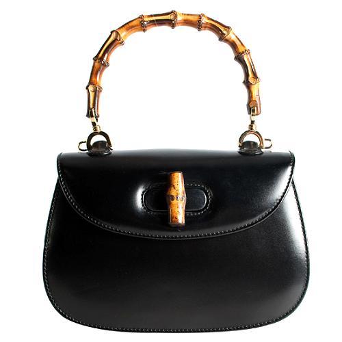 Gucci Vintage Bamboo Small Top Handle Satchel Handbag