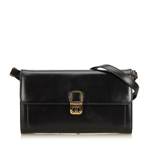 Gucci Vintage Box Leather Crossbody Bag