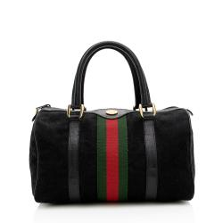 Gucci Vintage GG Canvas Web Small Boston Bag