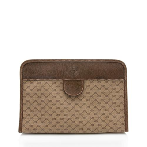 Gucci Vintage GG Micro Leather Clutch - FINAL SALE