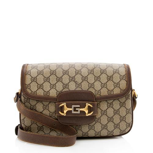 Gucci Vintage GG Plus Flap Crossbody Bag