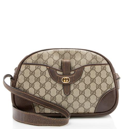 Gucci Vintage GG Plus Leather Pocket Shoulder Bag