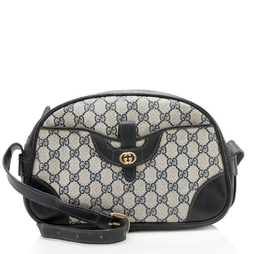 Gucci Vintage GG Plus Leather Pocket Shoulder Bag