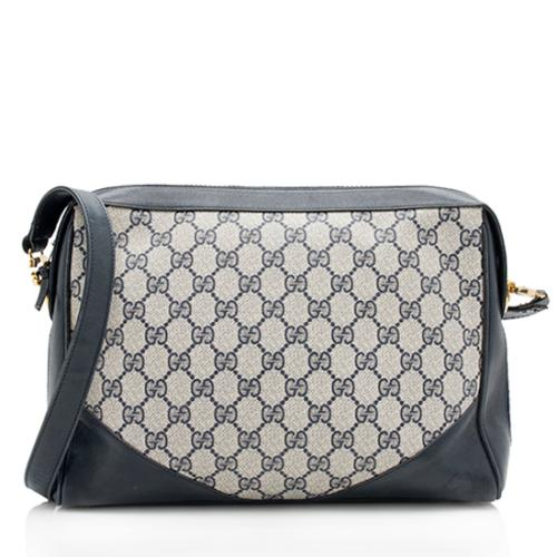 Gucci Vintage GG Plus Web Shoulder Bag