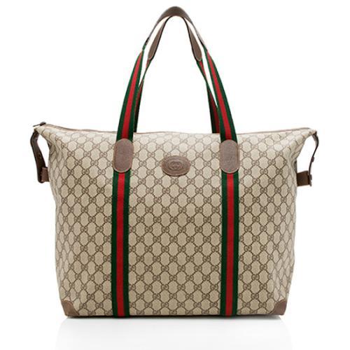 Gucci Vintage GG Plus Web Tote