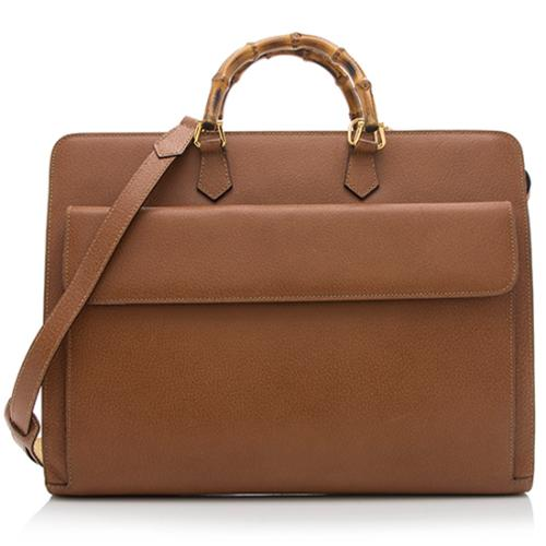 7b338c8ed09 Gucci-Vintage-Leather-Bamboo-Briefcase 92293 front large 0.jpg
