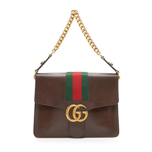 Gucci Vintage Leather Web Marmont Shoulder Bag