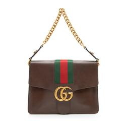 Gucci Vintage Leather Web Marmont Shoulder Bag