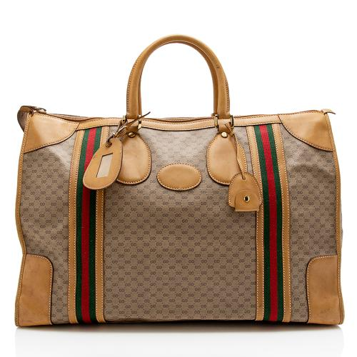 Gucci Vintage Micro GG Duffel Bag