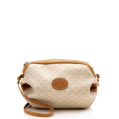 Gucci Vintage Micro GG Plus Double GG Shoulder Bag - FINAL SALE