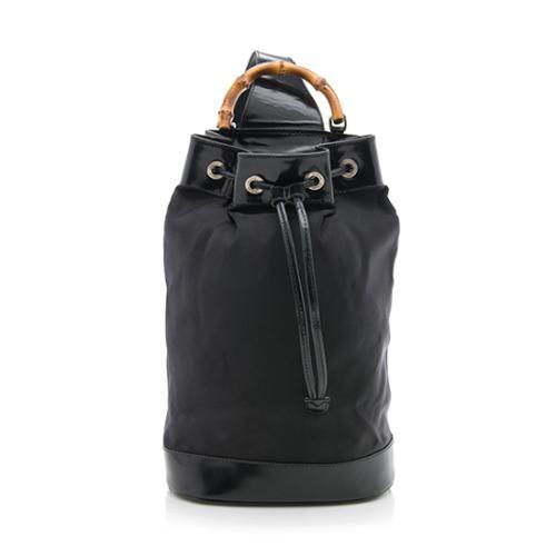 fc86bc78938 Gucci-Vintage-Nylon-Bamboo-Sling-Backpack- 80828 front large 1.jpg