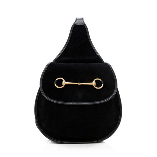 b54bd6b58 Gucci-Vintage-Suede-Horsebit-Sling-Shoulder-Bag 96430 front large 0.jpg