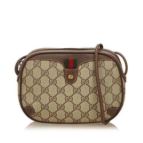 Gucci Vintage GG Plus Web Crossbody Bag
