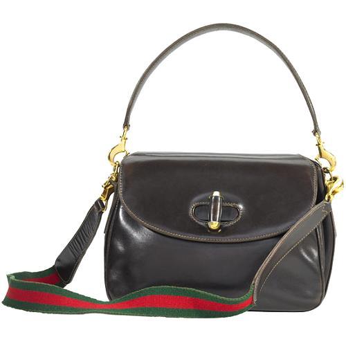 Gucci Vintage Turnlock Shoulder Handbag
