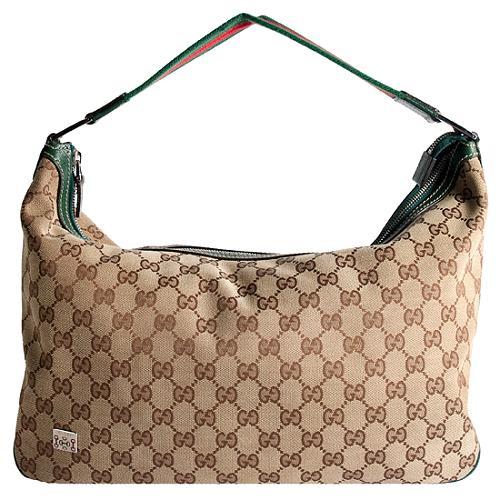 Gucci Web Large Shoulder Handbag