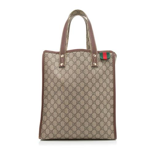 Gucci GG Canvas Web Loop Shopping Tote
