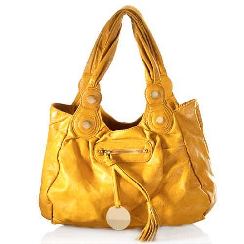Gustto Leather Sophia Medium Satchel Handbag