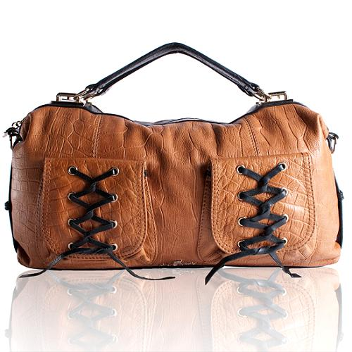 Gustto Malia Leather Shoulder Handbag