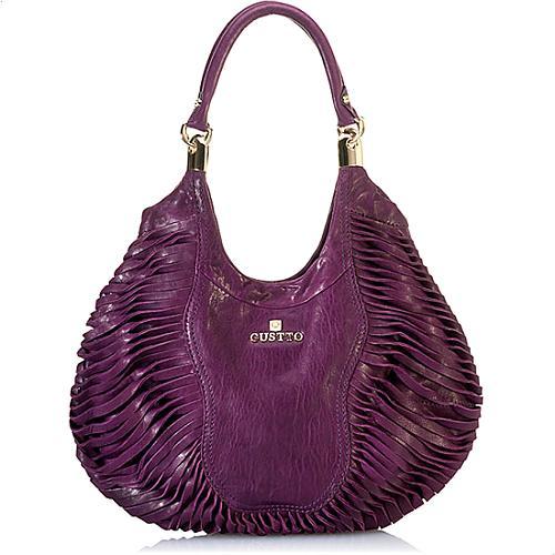 Gustto Masilia Leather Satchel Handbag